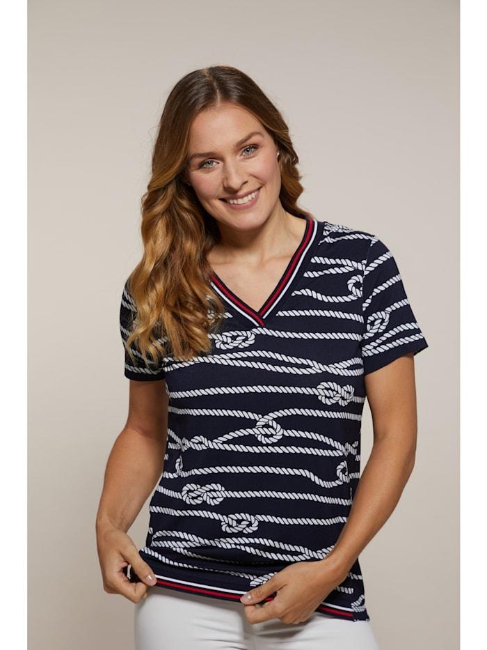 Hajo Shirt mit V-Ausschnitt, marine