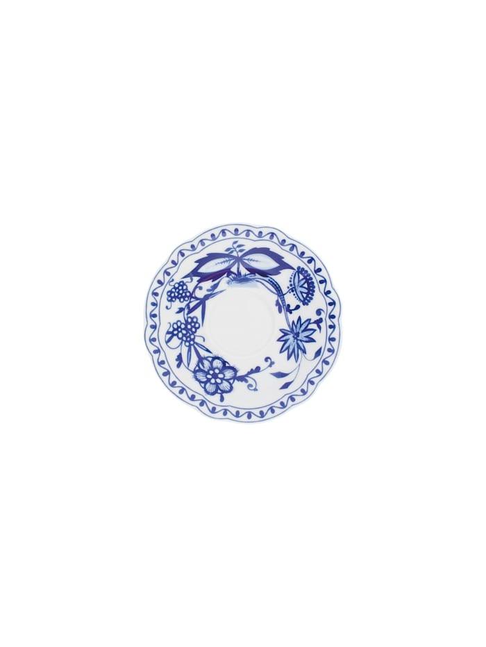 Kahla Untertasse Zwiebelmuster, Weiß