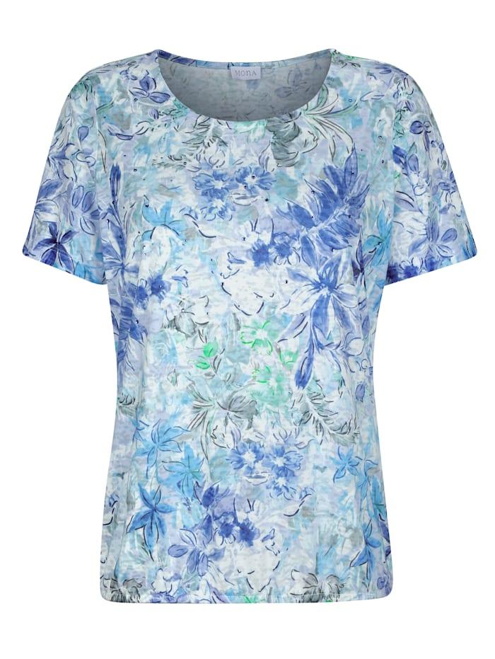 Shirt in floralem Druckdessin
