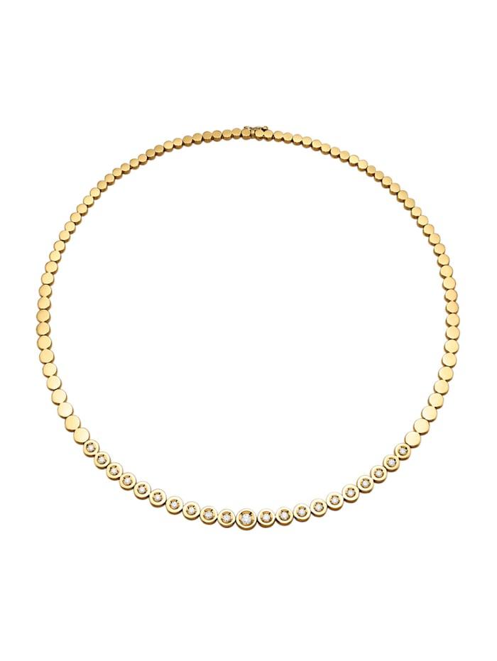 Diemer Diamant Collier mit lupenreinen Brillanten, Gelbgoldfarben