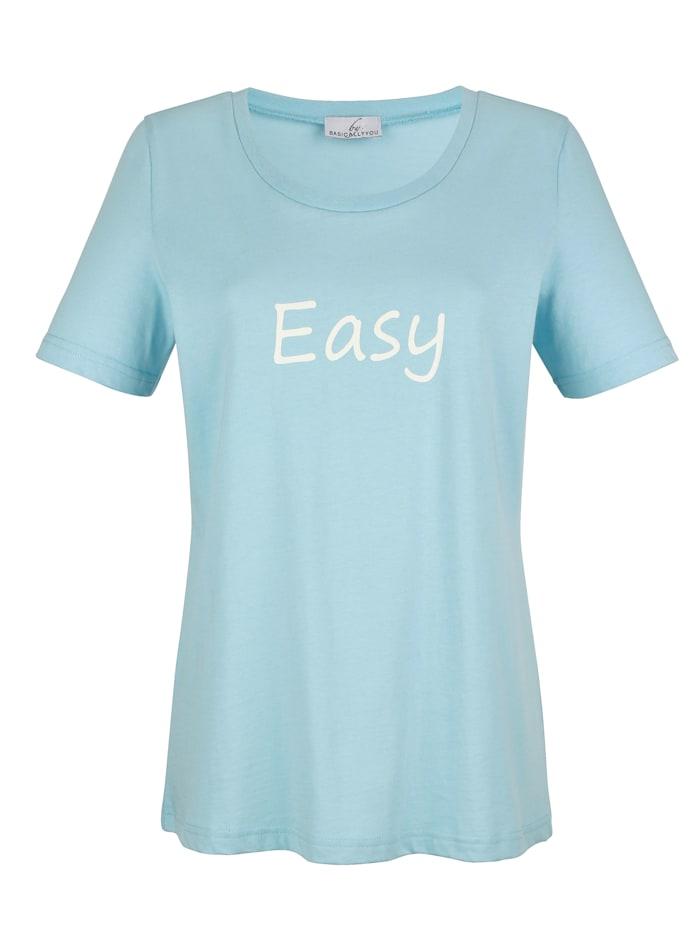 Shirt met klein opschrift