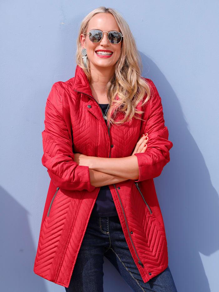 MIAMODA Gewatteerde jas met opstaande kraag, Rood