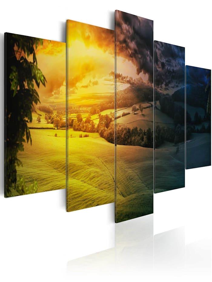 artgeist Wandbild Zwischen Tag und Nacht, mehrfarbig