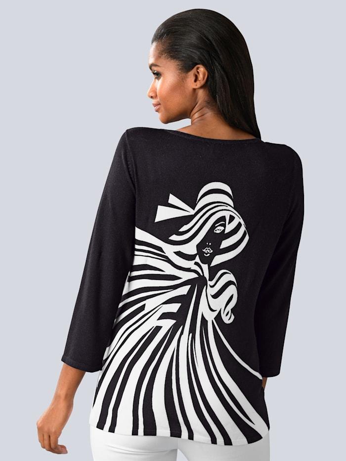 Pullover mit Frauen-Motiv im Vorderteil