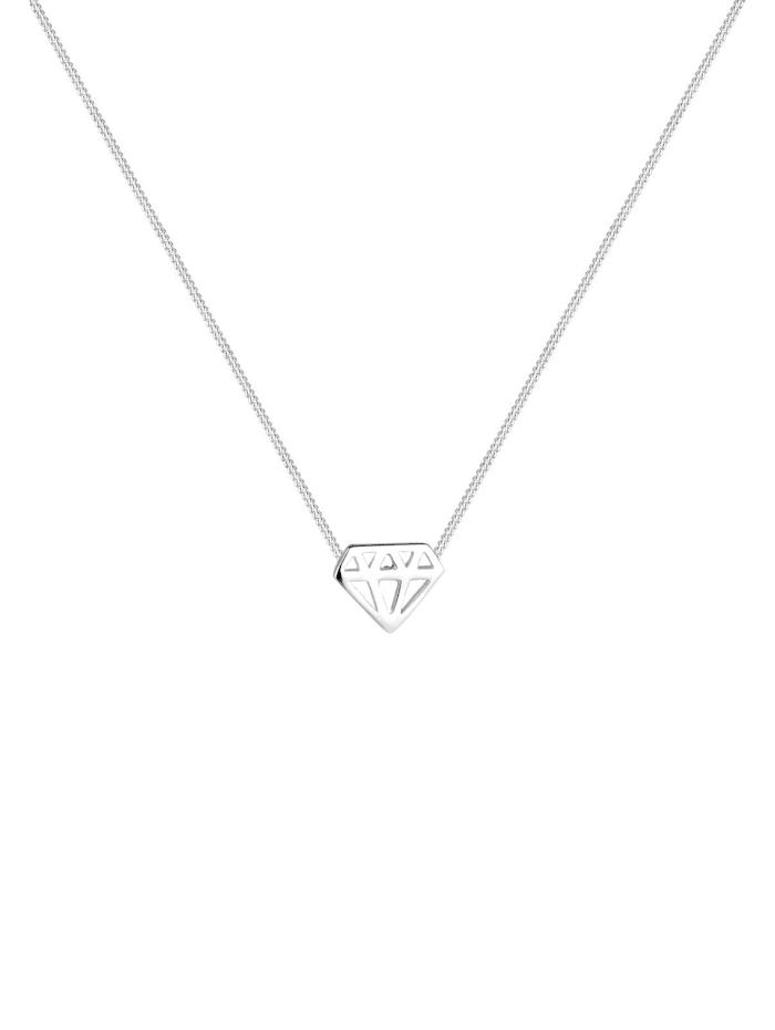Halskette Diamant 925 Sterling Silber