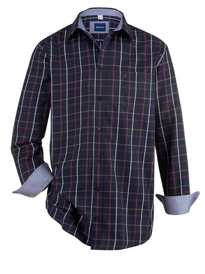 BABISTA Hemd mit Button-Down-Kragen, Marineblau/Beere