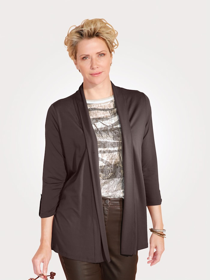 MONA Jacket with a turn down collar, Brown