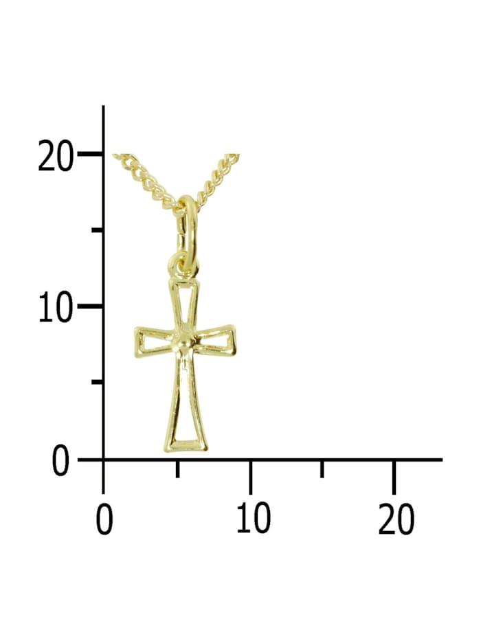Kette mit Anhänger - Kreuz 18x7 - Gold 333/000 - ,
