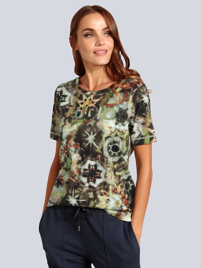 MARGITTES T-Shirt mit attraktivem Druck, Grün