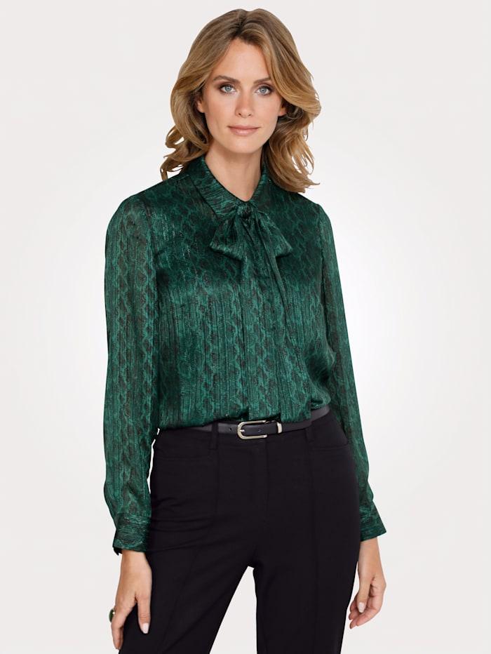 MONA Bluse mit Schluppe, Grün