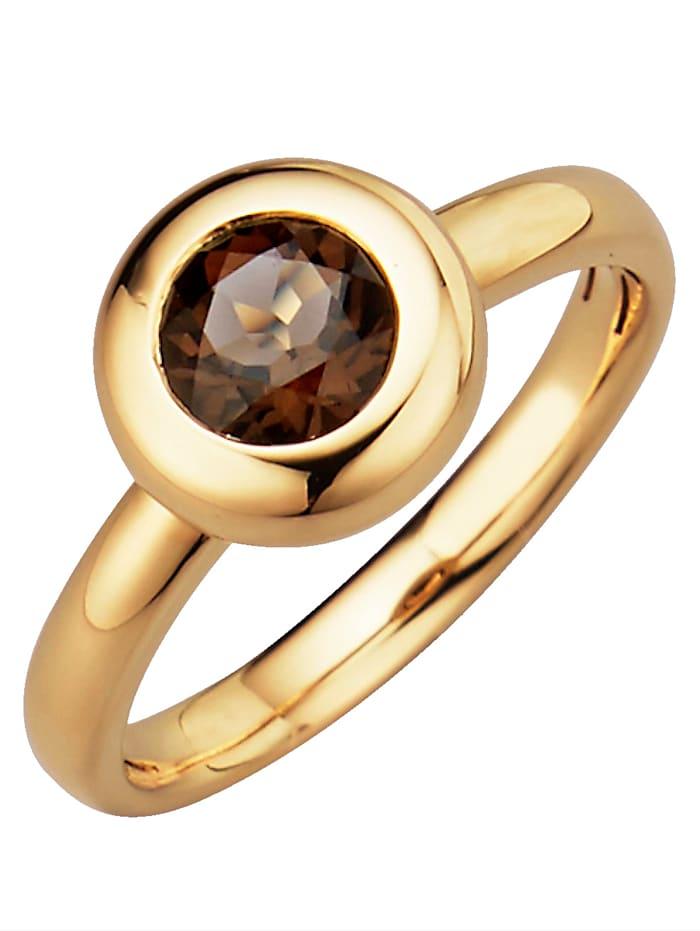 Diemer Highlights Sternzeichen-Ring Waage, Braun