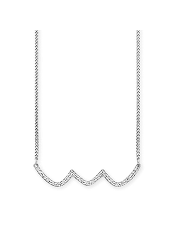 CAI Collier 925/- Sterling Silber Topas 42+3cm rhodiniert 0,132ct, weiß
