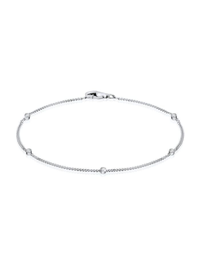 Elli Armband Kristallen 925 Sterling Silber, Weiß