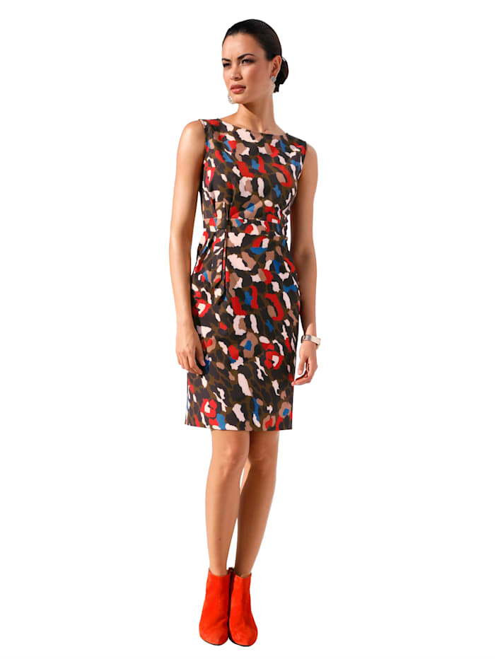 AMY VERMONT Jurk met knoopdetail, Multicolor