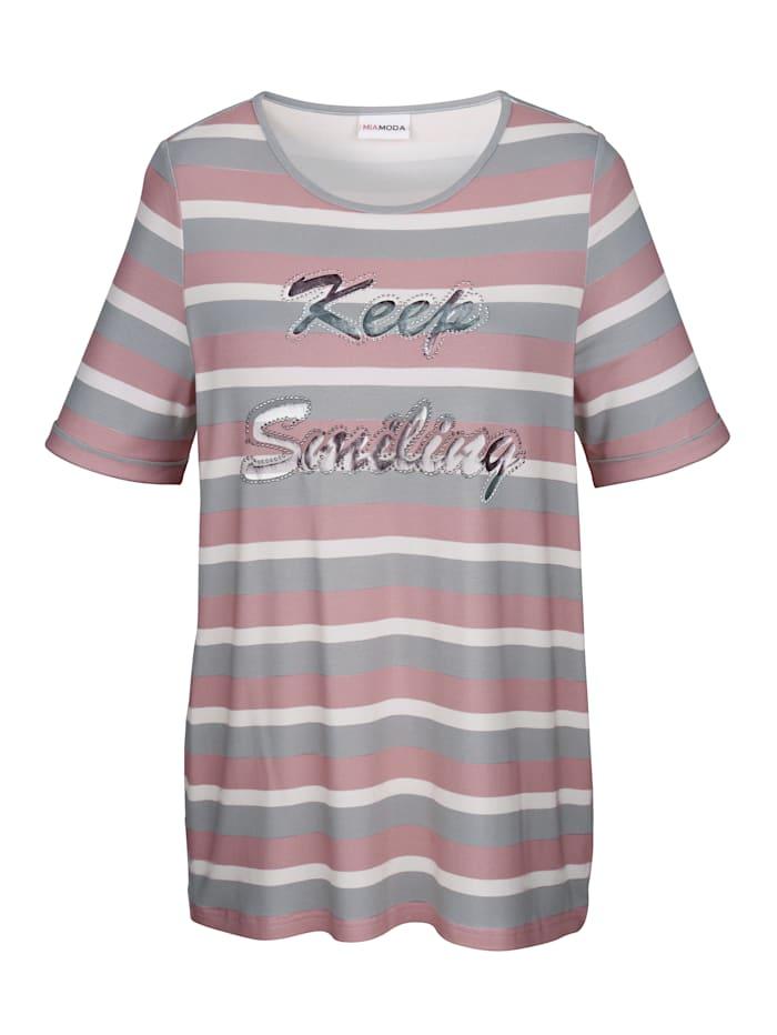 T-shirt à imprimé sérigraphié brillant
