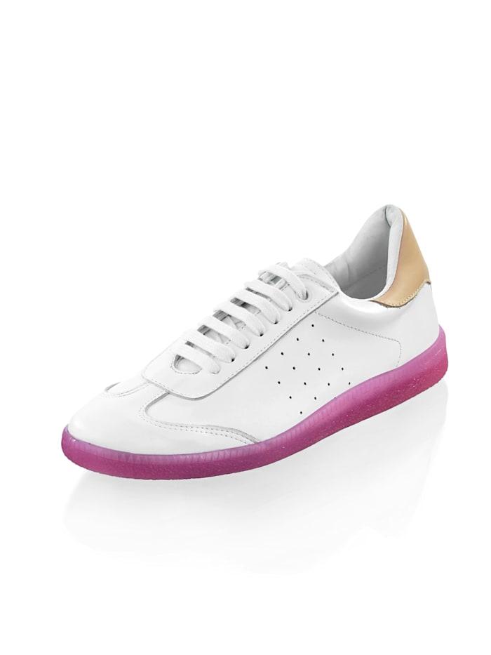 Alba Moda Sneaker in sportiver Form, Weiß/Rosé