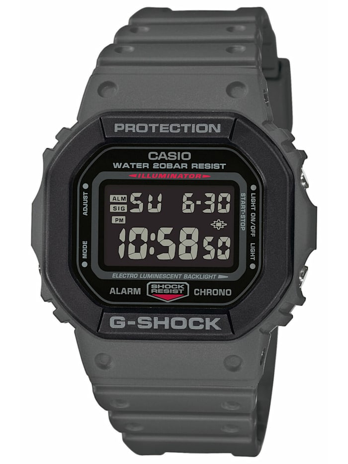 Casio G-Shock The Origin Digitaluhr Grau, Schwarz