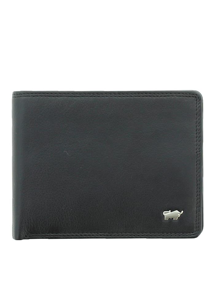 Braun Büffel Geldbörse GOLF 2.0 in schlichtem Design 12CS, schwarz