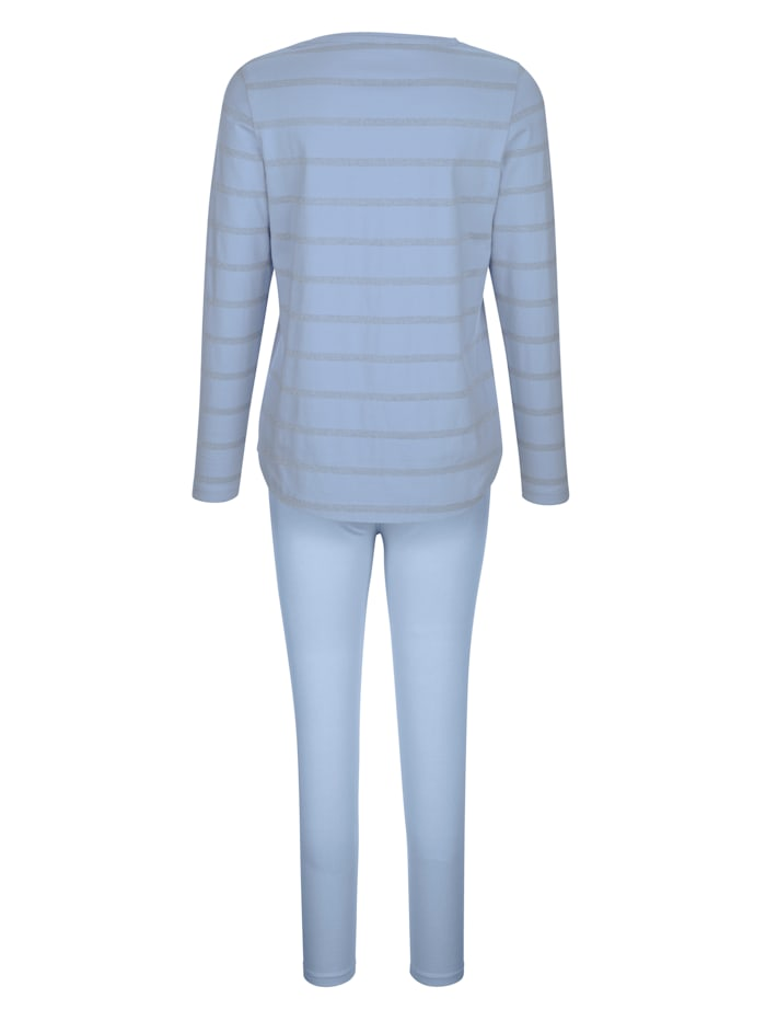 Leisure suit with Lurex detailing