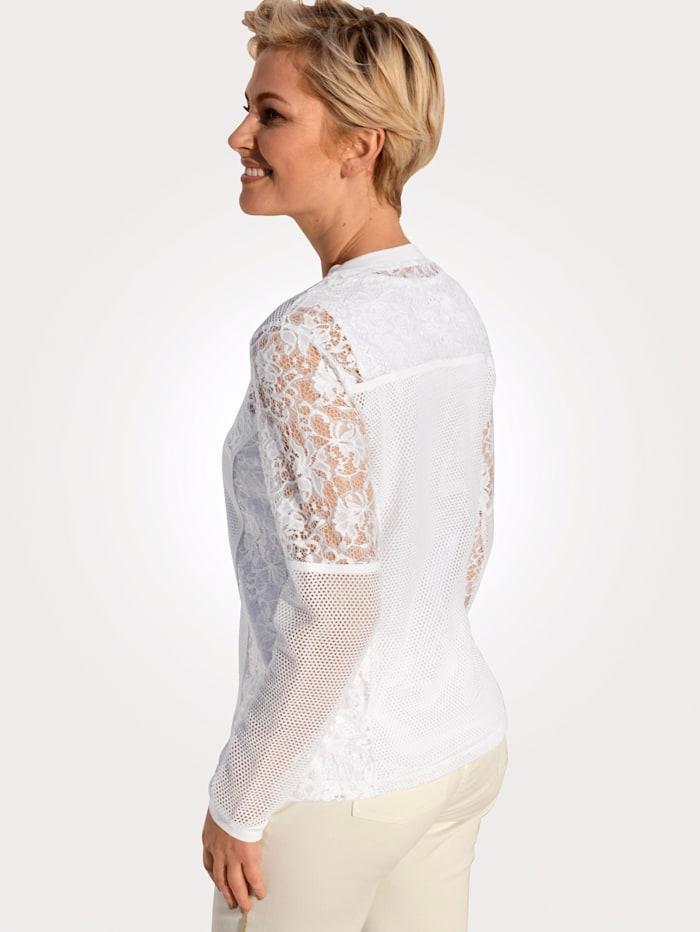 Blusenjacke aus transparenter Spitze