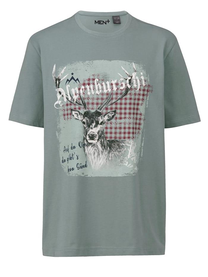 Men Plus T-Shirt aus reiner Baumwolle, Grün
