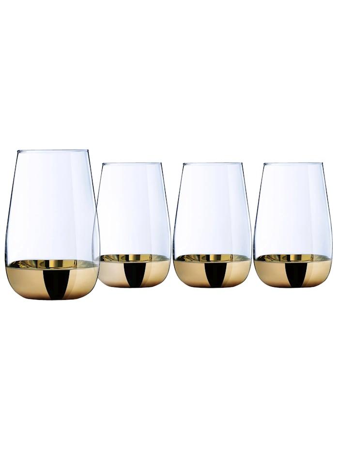 Creatable 4 longdrinkglas – Golden Days, Guldfärgad