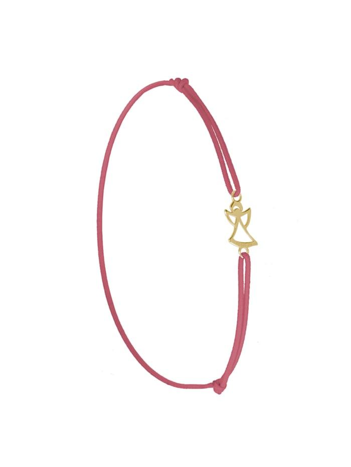1001 Diamonds Armband Engel 925 Silber vergoldet RO   rosa, rosa
