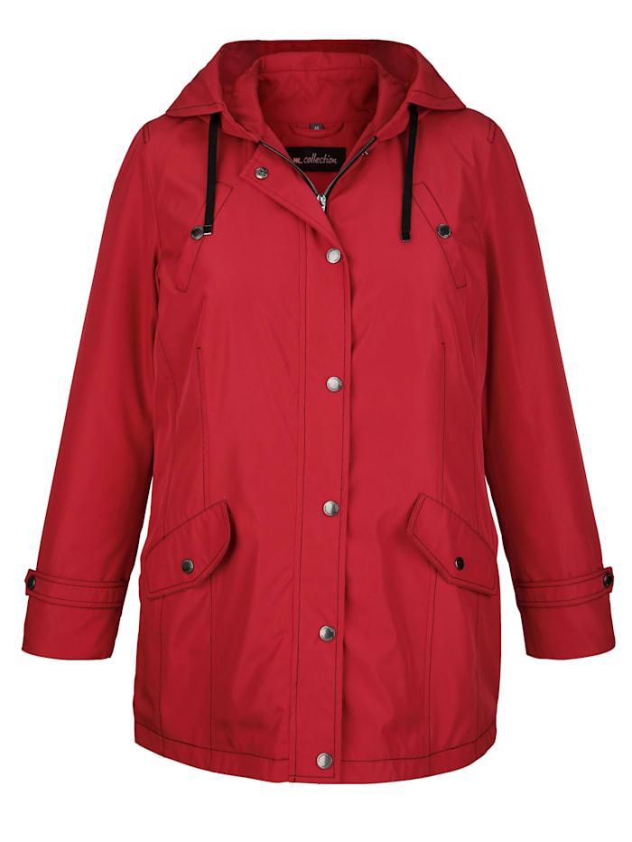m. collection Jacke mit Kapuze, Rot