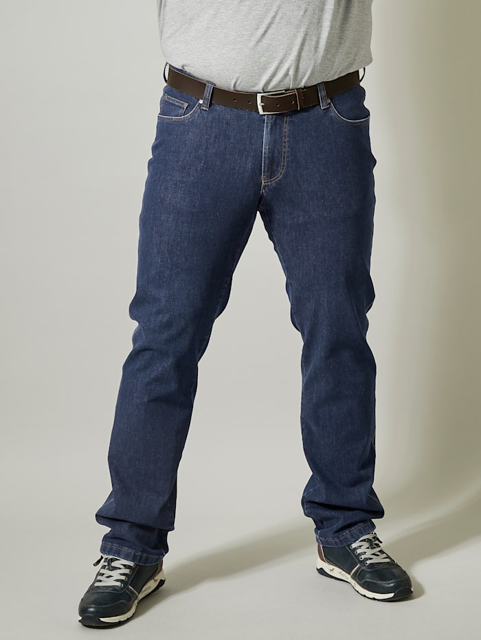 Men Plus Bi-Stretch Jeans Regular Fit, Dark blue