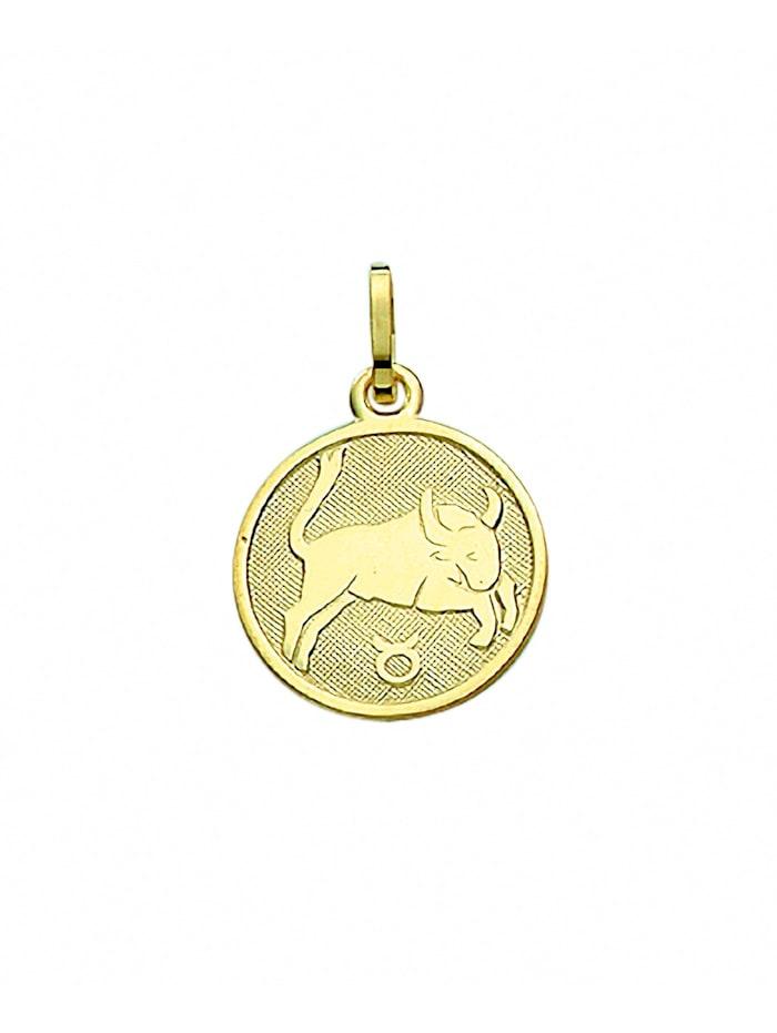 1001 Diamonds Damen & Herren Goldschmuck 333 Gold Sternzeichen Anhänger Stier Ø 11,8 mm, gold