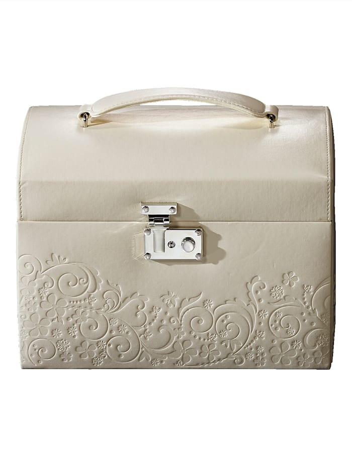 Golden Style Schmuckkoffer, Weiß