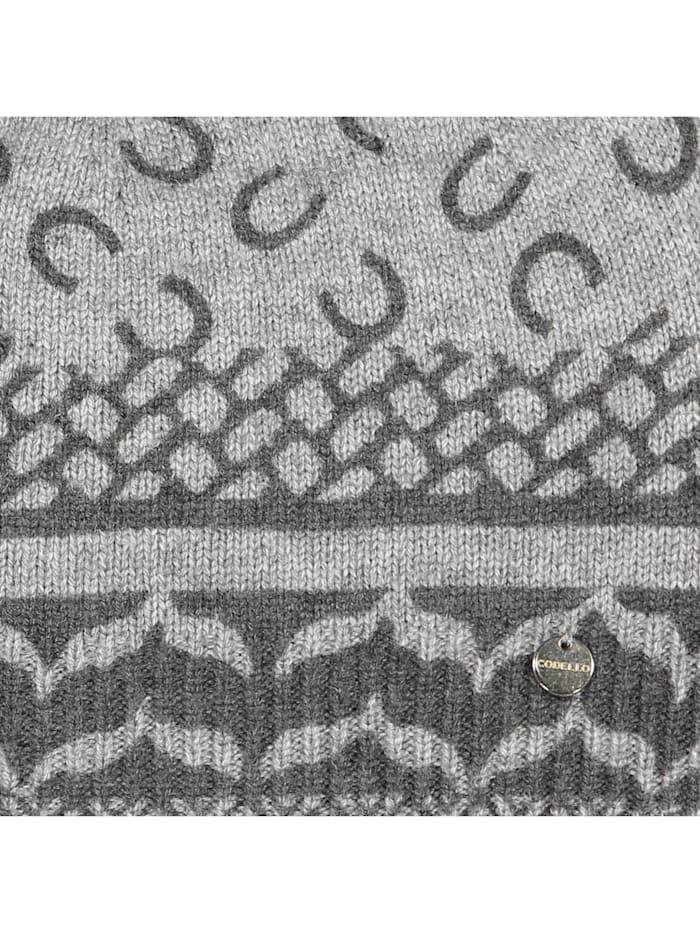 Premium Mütze mit Monogramm-Muster