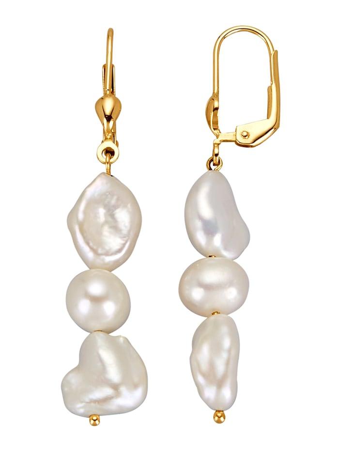 Amara Highlights Boucles d'oreilles à perles de culture d'eau douce, Blanc