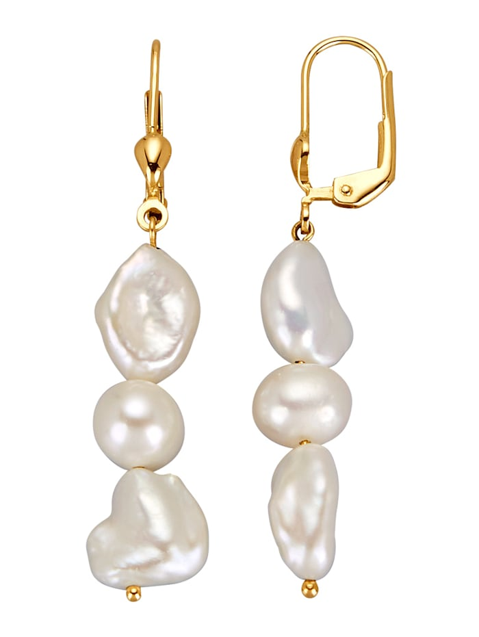 Amara Highlights Ohrringe mit Süßwasser-Zuchtperlen, Weiß