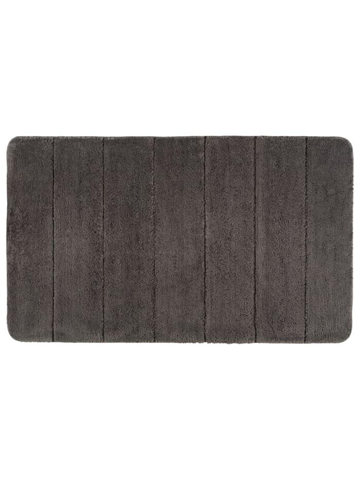 Wenko Badteppich Steps Mouse Grey, 70 x 120 cm, Mikrofaser, Polyester/Mikrofaser: Grau