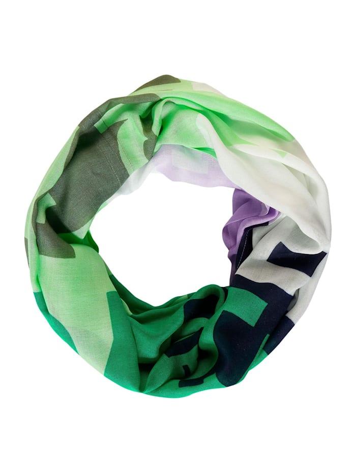 Cecil Leichter Loop mit Print, peppermint green