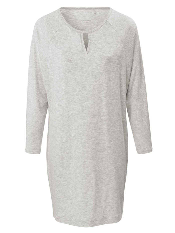 Calida Sleepshirt, Länge 95cm Made in Europe, pigment grey melé