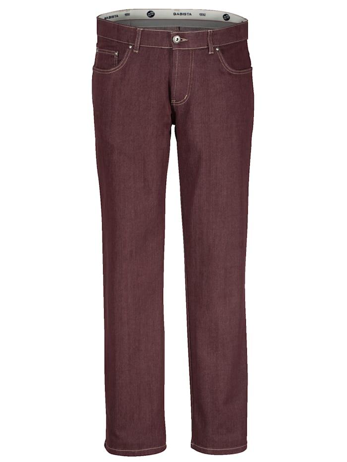 BABISTA Jeans van strijkarm materiaal, Bordeaux