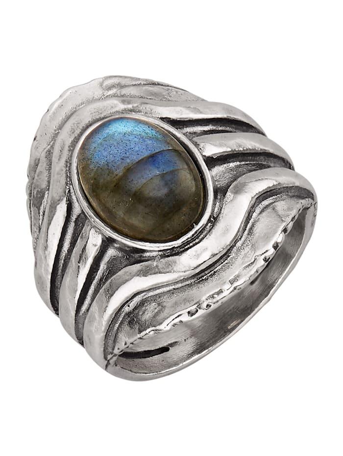 Roman Glass Ring i silver 925, Silverfärgad