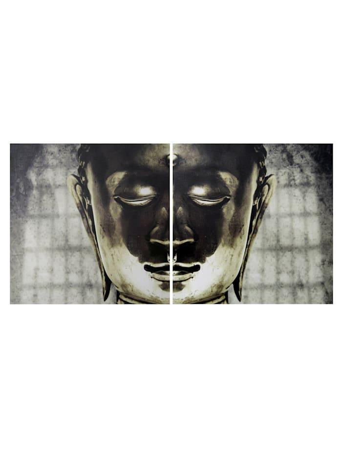 Creativ Deco Bild 'Buddha', 2tlg., Gold