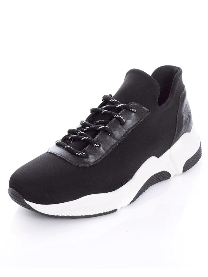 Alba Moda Sneaker im markanten Style, Schwarz