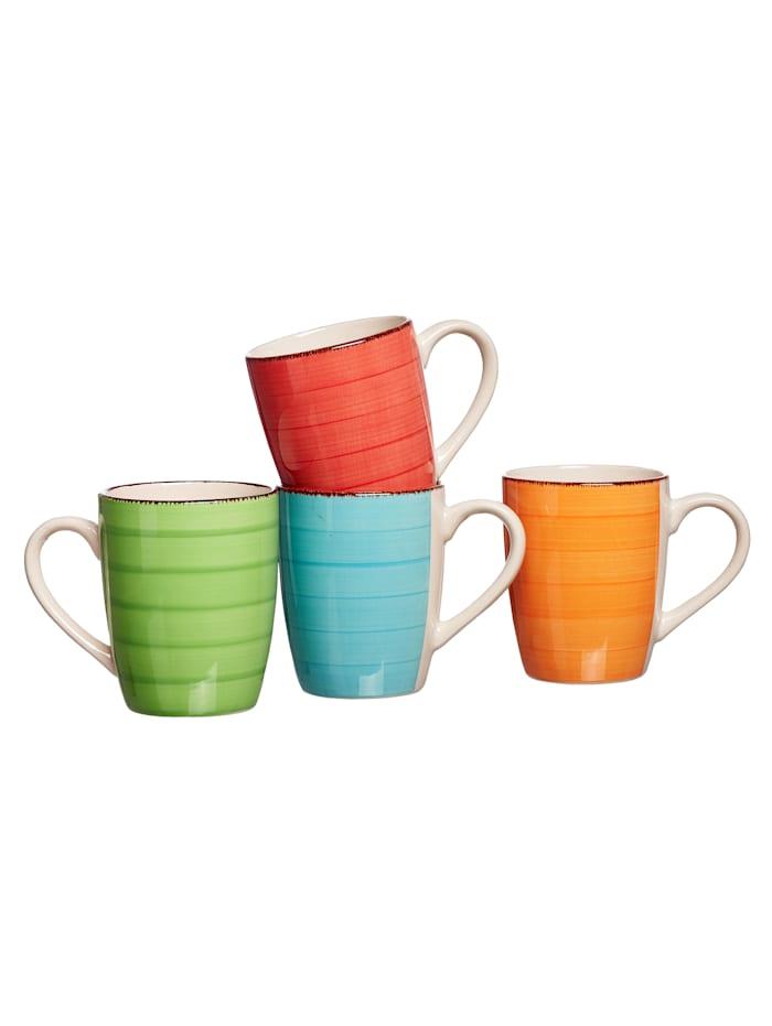 Ritzenhof & Breker 4tlg. Kaffeebecher-Set, mehrfarbig