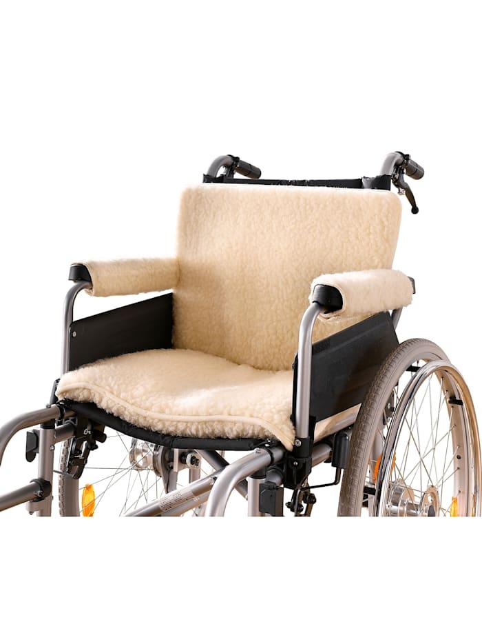 K & N Schurwolle Scheerwollen rolstoelset, ecru