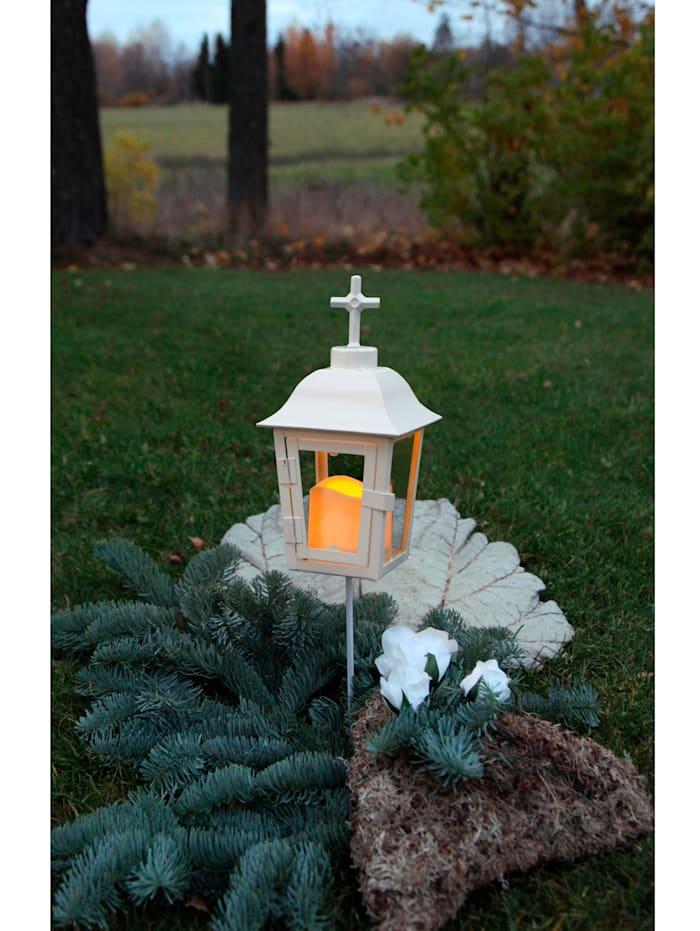 LED-lyhty puutarhaan tai haudalle