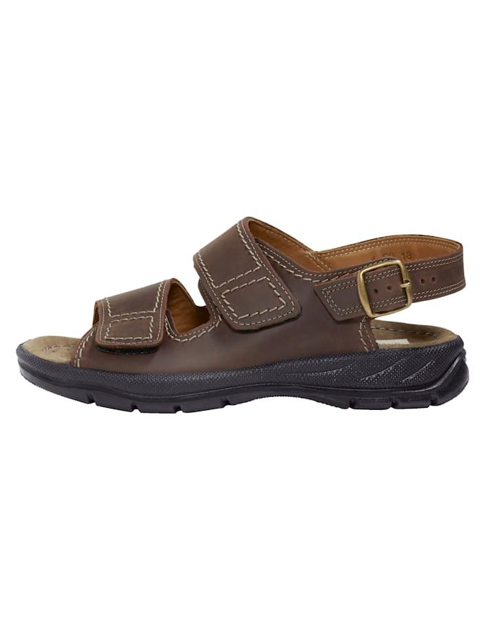 Sandale aus weichem Nubukleder
