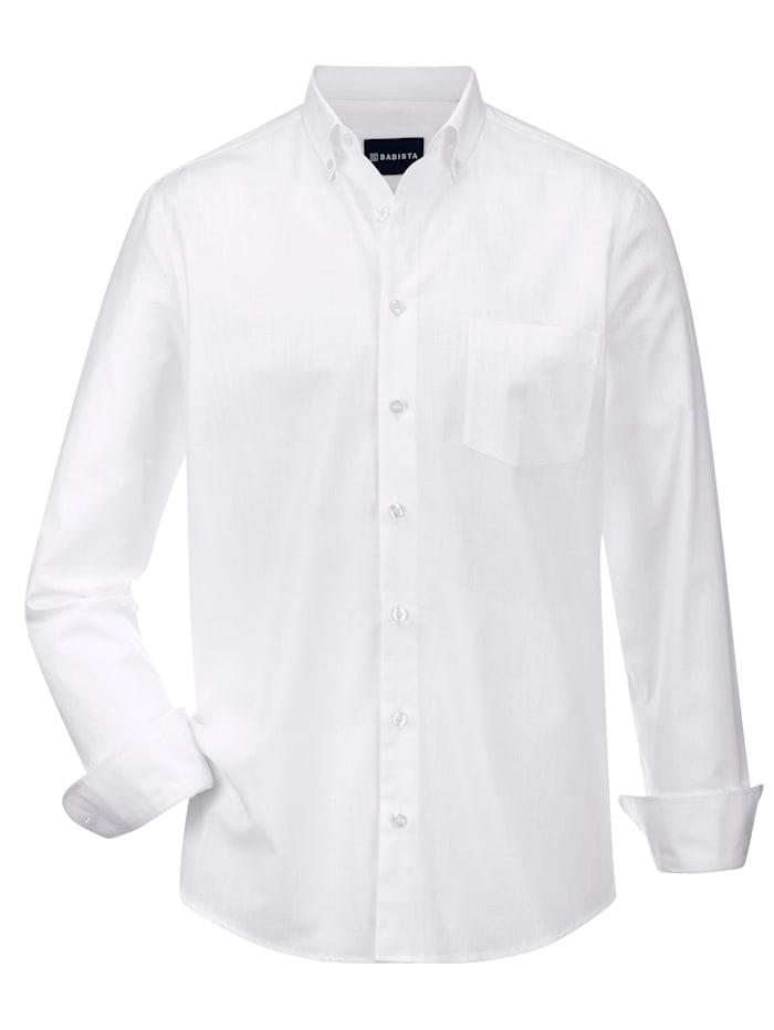 Babista Premium Chemise en lin à effet stretch, Blanc
