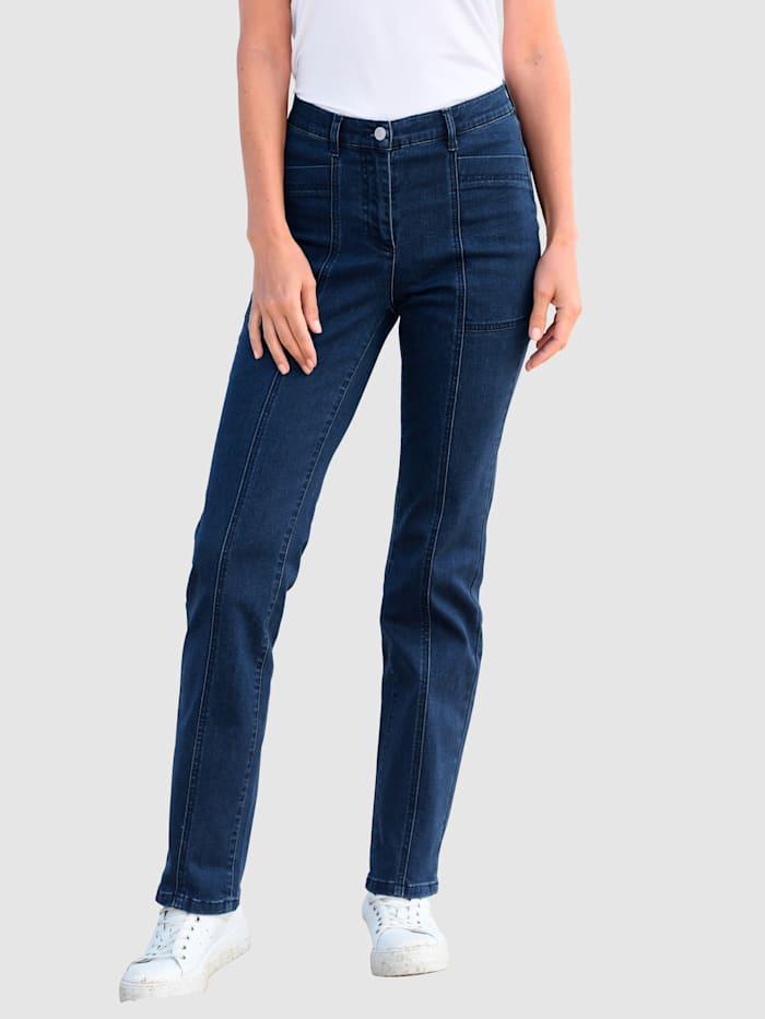 basically you Jeans mit tiefen Taschen, Blue stone