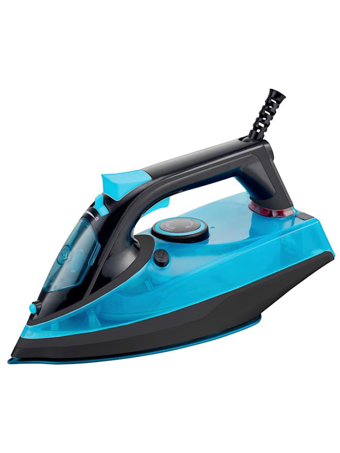 HSP Hanseshopping Strijkijzer DIAMANT Clever Clean, zwart/blauw