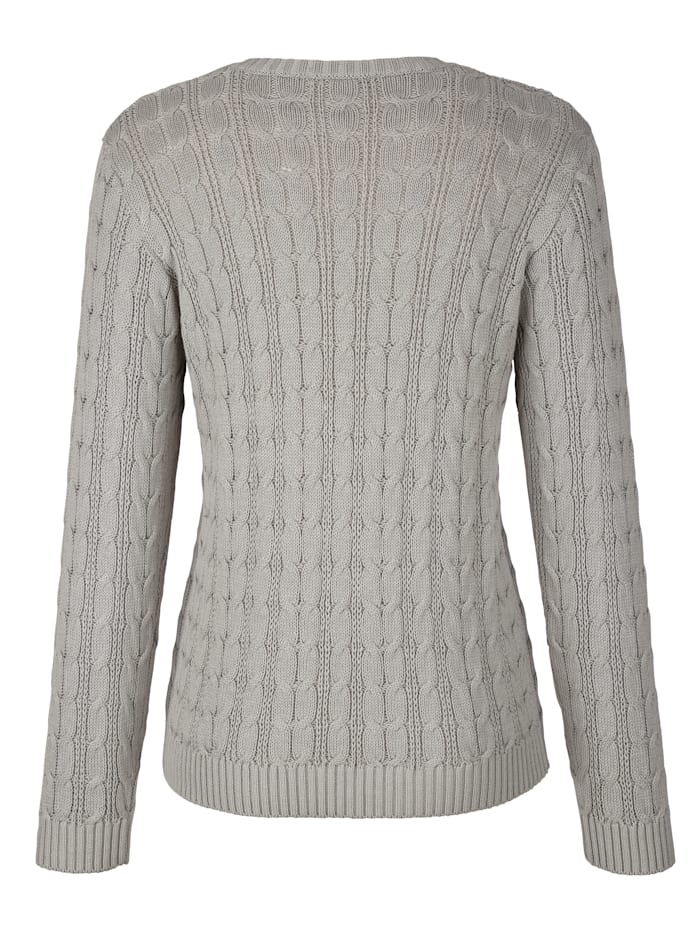 Jumper with a cable knit
