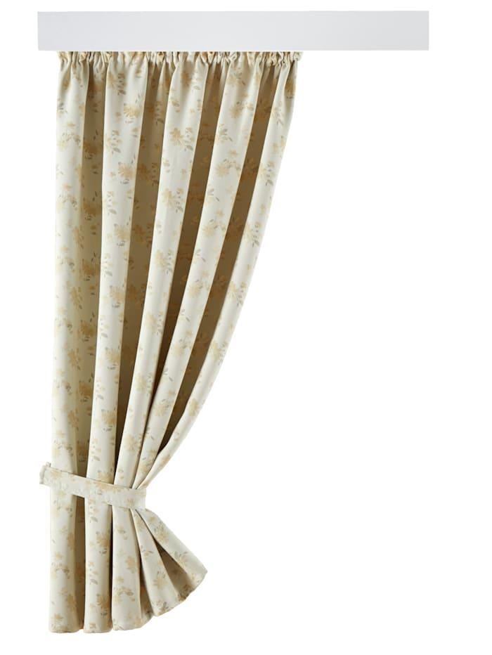 Webschatz Verdunklungsgardine 'Maggy', Creme-Weiß